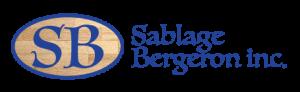 Logo sablage bergeron sur fond transparent